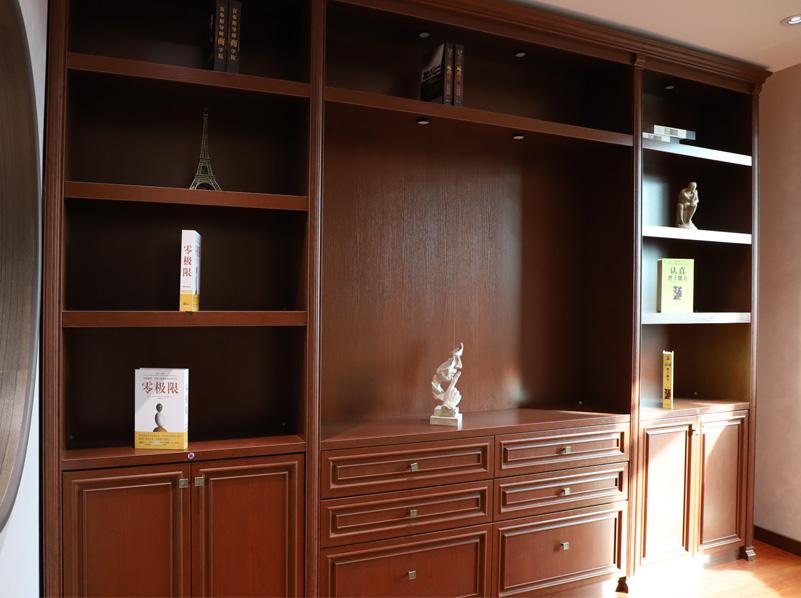 实木包袱门书柜